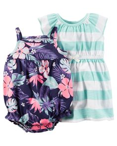 Baby Girl 2-Piece Dress & Romper Set | Carters.com