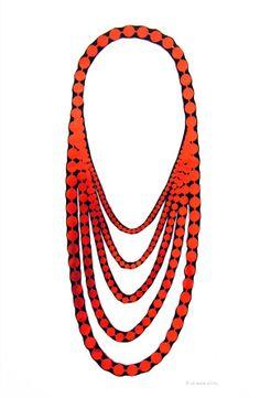 Uli Rapp neoprene necklace, Pearl short - saw at Velvet Da Vinci, $225