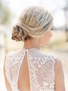 Fishtail braid bun #hairstyles | View entire slideshow: 15 Best Bridal Buns on http://www.stylemepretty.com/collection/539/ | Photography: When He Found Her - whenhefoundher.com/
