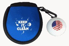 Customize this ball cleaner pouch and ball set with your tournament logo or theme! This pocket-sized neoprene-like cleaning pouch will keep things tidy from tee to green. Available in 5 colors and there is a minimum order of 150 units. We carry a variety of golf ball brands.