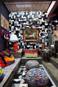 Cris Rosenbaum - fashion designer and Marcelo Rosenbaum - designer  at home in São Paulo -