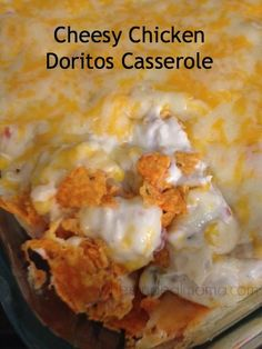 Cheesy Chicken Doritos Casserole   #Casserole #Chicken #Doritos