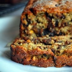 Food: Ten Delicious Afternoon Tea Loaves  (via For Goodness Sake's recipe for Peanut Butter Banana Bread with Chocolate Chips)