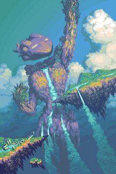 Pixel art that is animated. Pixel Art Gif, Cool Pixel Art, Pixel Art Games, Cool Art, Fantasy World, Fantasy Art, Arte 8 Bits, Pixel Animation, 8 Bit Art