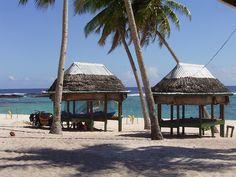 Beach Fales in Tuamasaga, Western Samoa