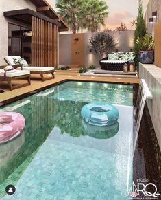 Backyard Pool Landscaping, Backyard Pool Designs, Small Backyard Pools, Small Pools, Backyard Garden Design, Swimming Pools Backyard, Swimming Pool Designs, Outdoor Spaces, Outdoor Living