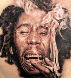 Incredible Bob Marley Portrat Tattoo in Progress by Seunghyun Jo Tattoo Artist. Seoul to Toronto Tattoo Images, Tattoo Photos, Beginner Tattoos, World Tattoo, Cool Tats, Professional Tattoo, Shoulder Tattoos, Tattoos Gallery, Skin Art
