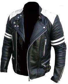 Ladies Leather Motorcycle Jacket For Women Classic Vintage Cafe Racer Brando Biker Jackets