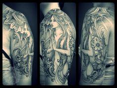 Skydoll inspiration, Agape, dotwork tattoo, tattoo Dagmar