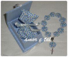Lembrança Batizado   Caixa com Mini Terço Fuxico     Flickr - Photo Sharing!