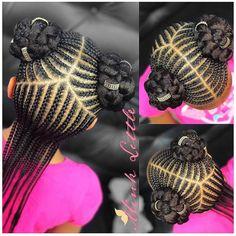 Little Girl Hairstyles Black Kids Hairstyles, Baby Girl Hairstyles, Natural Hairstyles For Kids, Kids Braided Hairstyles, Ethnic Hairstyles, Teenage Hairstyles, Short Hairstyles, Natural Hair Styles Kids, Children Hairstyles
