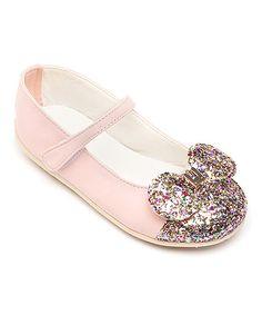 Pink Rhinestone Bow Mary Jane
