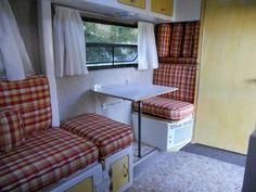 Side Table Small Fiberglass Travel Trailer