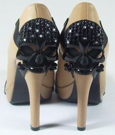 Crystal Skull High Heel Shoes :)