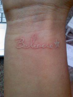 """white ink """"believe"""""""