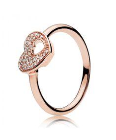ca29deaa01f Rose Shimmering Puzzle Heart Frame Ring 186550CZ Pandora Charms Rose Gold, Pandora  Rings, Pandora