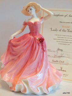 Retired Royal Doulton Lady of the Year 1997 Bone China Figurine ELLEN HN3992 COA