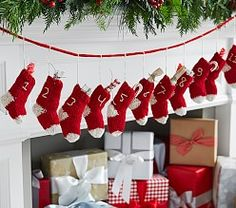 Countdown to Christmas with Pottery Barn Kids' advent calendars. Shop our knit Christmas advent calendars and make it a yearly tradition. Christmas Time Is Here, Christmas Holidays, Christmas Crafts, Christmas Decorations, Holiday Decor, Merry Christmas, Homemade Christmas, Christmas Ornament, Happy Holidays