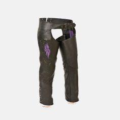 womens black leather pants chaps
