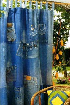 cortina en jean