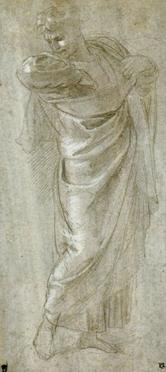 Saint Paul Rending His Garments by Raphael, figure drawing with drapery