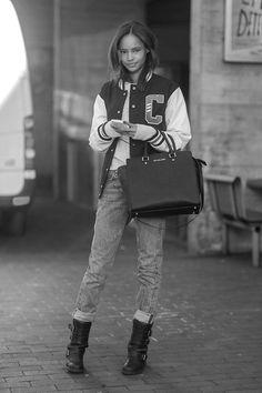 Malaika Firth during London Fall/Winter Fashion Week 2014.