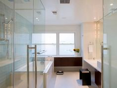Perhaps a little too contemporary .I do love the shower doors though ....oh yes! that's because they're the same as mine at home LOL  http://isobelsellshomes.kwrealty.com