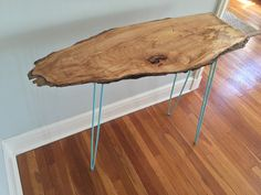 Rustic Console Entryway Table Live Edge by StocktonHeritage