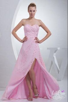 A-line Sweetheart Split Front Floor Length Beading Dress - Prom Dresses - So amazing this chiffon dress is! This floor length dress features a sexy sweetheart with asymmetrical sparkling beading which embellishes the bodice line.the side split design make it meyserious.
