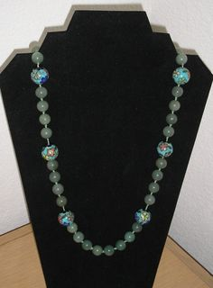 Awesome Agate/Cloissone necklace by CreationsbyMaryEllen on Etsy, $28.99