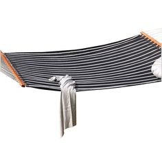Amber Home Goods Quilted Hammock Black/White Stripe