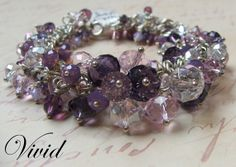 Sterling Silver and Swarovski Crystal Bracelet  by VividJewelryPDX, $103.50     I made one somewhat like this!