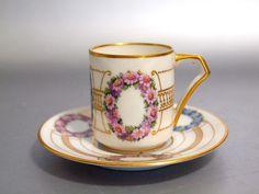 Art-Deco Porzellan Mokkatasse Set von Fraureuth in Antiquitäten & Kunst, Porzellan & Keramik, Porzellan | eBay!