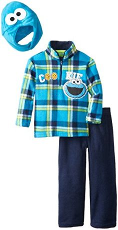 Sesame St Little Boys Cookie Monster 3 Piece Arctic Fleece Set Peacoat 2T ** More info could be found at the image url.Note:It is affiliate link to Amazon.