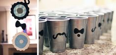 Used a sharpie and did these on some blue paper cups for baby shower,  came out very cute-moustache cups