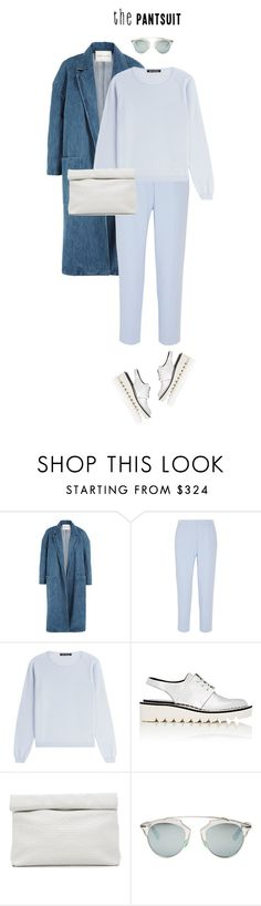 """""""N°4 ~ The pantsuit"""" by marilin-15 ❤ liked on Polyvore featuring Sandy Liang, MM6 Maison Margiela, IRIS VON ARNIM, STELLA McCARTNEY, Marie Turnor, Christian Dior and thepantsuit"""
