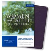 NIV Women of Faith Study Bible, Bonded leather, Purple  1984