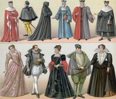 Clothes in France at the Century 16th Century Clothing, 16th Century Fashion, European Fashion, Timeless Fashion, Vintage Fashion, Historical Costume, Historical Clothing, Renaissance Fashion, Renaissance Gown