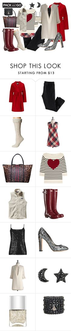 """""""pack and go winter getaway."""" by pinkice ❤ liked on Polyvore featuring Phase Eight, H&M, UGG, Dolce&Gabbana, Marc Jacobs, Patagonia, Hunter, M&S Collection, Nails Inc. and Blooming Lotus Jewelry"""