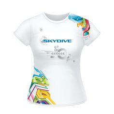 Skydiving Silhouette Baby Girls Short Sleeve Shirt Clothing