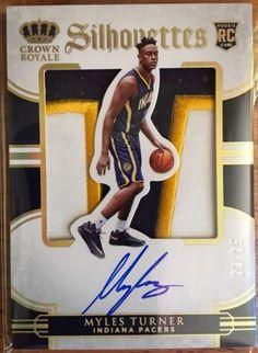 Panini Preferred Basketball Silhouettes Auto Jersey Rookie Card Myles Turner /25