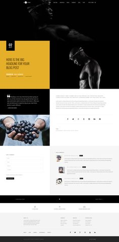 Buy H-Code Multipurpose OnePage & Multi Page Template by themezaa on ThemeForest. H-Code is a responsive, creative, powerful and multi-purpose multi page and one page template with latest web design. Web Ui Design, Web Design Trends, Graphic Design, Homepage Template, Templates, Pag Web, Personal Resume, Branding, Drupal