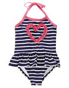 41ddcb81810ce (Gymboree 4-12y) Boutique Bathing Suits, Striped Swimsuit, 1 Piece Swimsuit