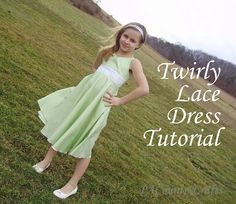 Twirly Lace Dress Tutorial by PACountryCrafts