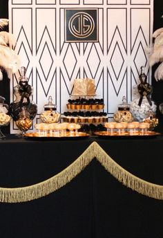 Gatsby is hard to pin down. Gatsby himself threw some incredible parties. Nobody seems to know Gatsby, even though they are all guests on his property. Great Gatsby Party, Great Gatsby Motto, Gatsby Themed Party, Gatsby Decorations, Roaring 20s Party, Masquerade Party, Gold Party, Party Printables, Party Themes