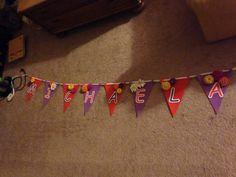 Baby Shower banner! Purple & Orange