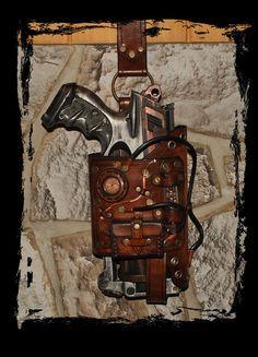 maverick nerf leather holster steampunk by ~Lagueuse on deviantART
