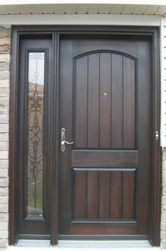 Black Wood Front Door With Glass. 26 Modern Front Door Designs For A Stylish Entry Shelterness. 26 Modern Front Door Designs For A Stylish Entry Shelterness. Home Design Ideas Wood Front Doors, Exterior Front Doors, The Doors, Glass Front Door, Entrance Doors, Wooden Doors, Glass Door, Front Entry, Slab Doors