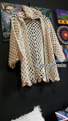 Lotus Blossom Crochet Poncho in Tahki Yarns Cotton Classic Lite Crochet Coat, Crochet Cardigan Pattern, Crochet Shirt, Crochet Jacket, Crochet Clothes, Crochet Patterns, Knitting Patterns, Crochet Girls, Cardigans