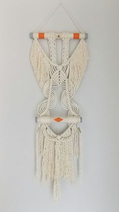 Macrame Wall Hanging Her Wings by HIMO ART One of a by HIMOART